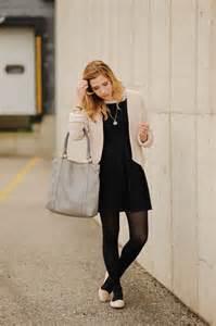black dress black tights flats i wear