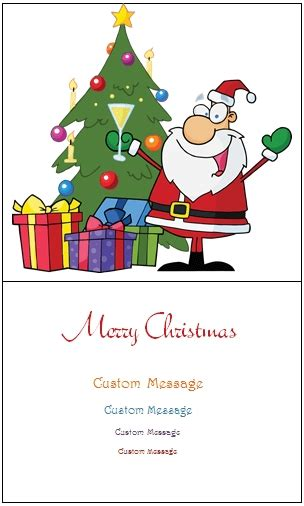 Microsoft Word Christmas Card Templates For Free Merry Christmas Happy New Year 2018 Quotes Merry Template Word