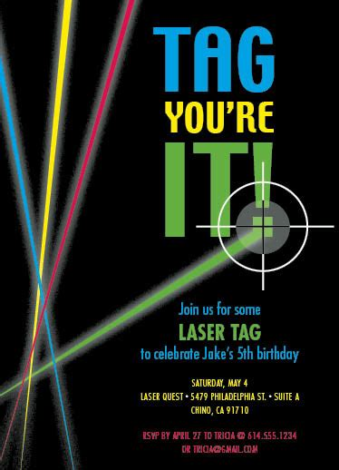 party invitations laser tag at minted com