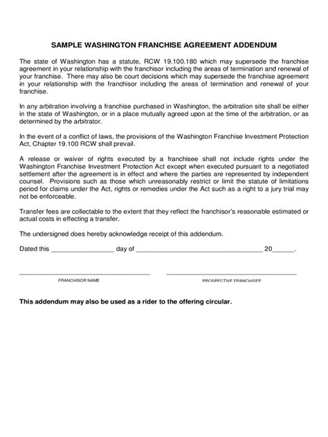 Franchise Agreement Template Pdf franchise agreement template 6 free templates in pdf