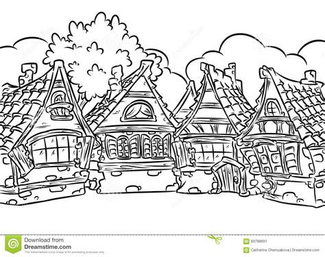 village house coloring pages medieval half timbered houses village coloring page