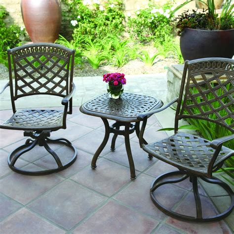 bistro set patio darlee sedona 3 patio bistro set the outdoor store