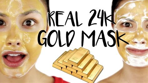 Mask Gold 24k trying a real 24k gold mask impressions