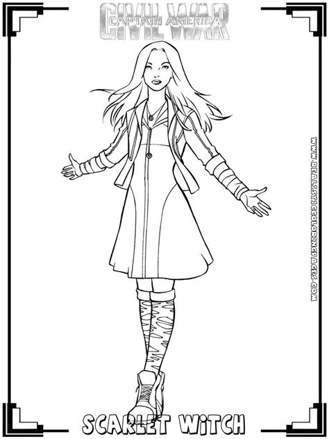coloring pages scarlet witch scarlet witch coloring pages coloring pages