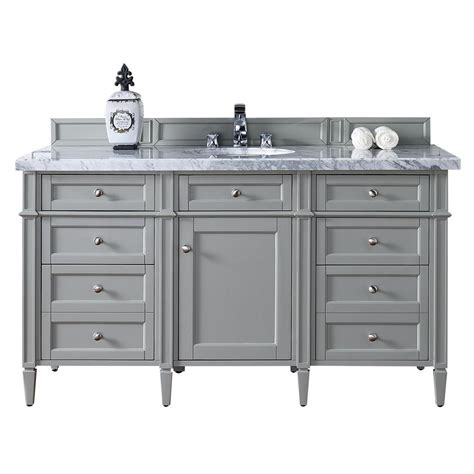 Martin Vanity by Martin Signature Vanities 60 In W Single Vanity In Gray With Marble Vanity