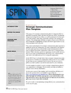 Strategic Communications Plan Template by Best Photos Of Communication Plan Outline Exle