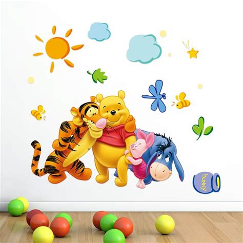 winnie the pooh wall sticker friends with winie pooh wall stickers for room