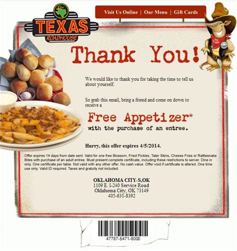 texas roadhouse printable coupons 1000 images about texas roadhouse coupons on pinterest