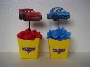 carros disney cachep 244 centro de mesa minis disney and mesas