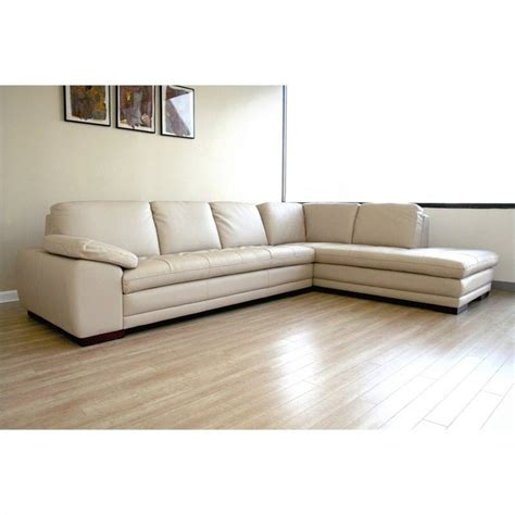 Diana Leather Sectional Sofa In Beige 625 M9818 Sofa Lying Beige Leather Sectional Sofa