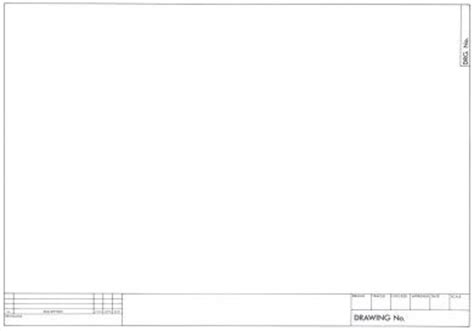 drawing paper template a3 engineer blank tracing paper