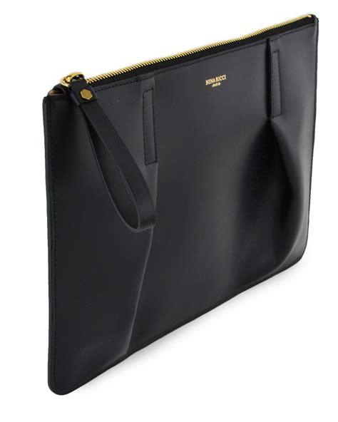 Clutch Bag 1 lyst ricci black large clutch bag in black