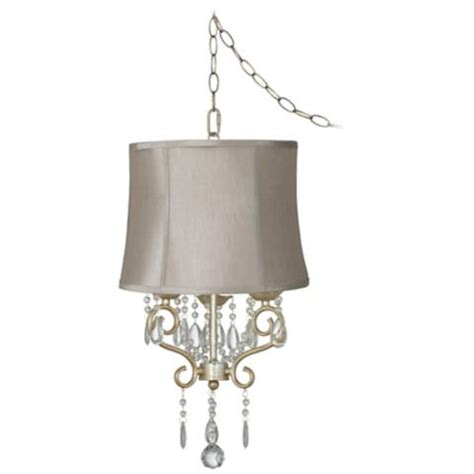 Conti 16 Quot Wide Mini Swag Chandelier With Taupe Shade Mini Swag Chandelier