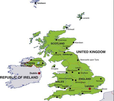 map uk ireland map of cities your description