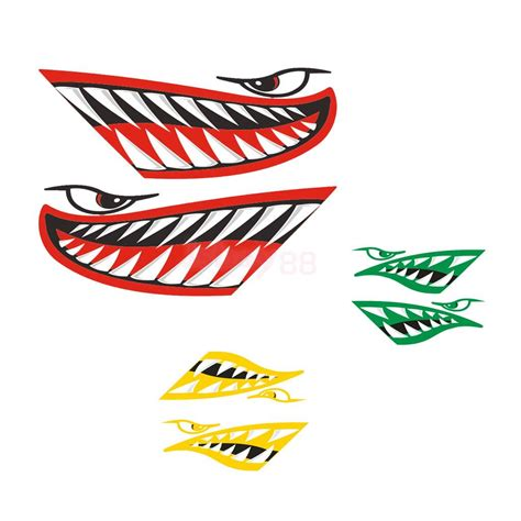 boat decals large 2pcs large shark teeth mouth decal sticker for kayak ocean