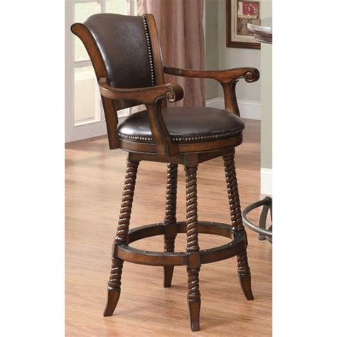 bar stools traditional coaster furniture cherry traditional 29 inch bar stool on sale