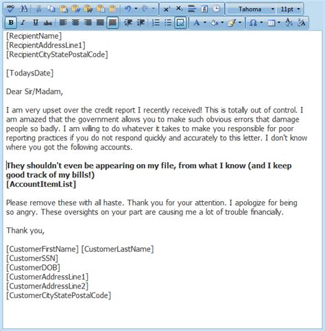 Dispute Letter To Credit Bureaus Free Free Credit Report Dispute Letter Template Docoments Ojazlink