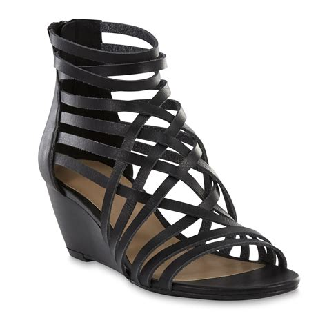 sears sandals womens covington s miranda black gladiator sandal