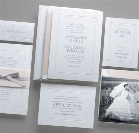 kleinfeld bridal wedding invitations kleinfeld paper embossed pearls wedding invitation suite customize yours with paper
