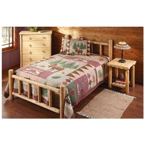cedar log bed buy castlecreek queen cedar log bed pinockioshopa