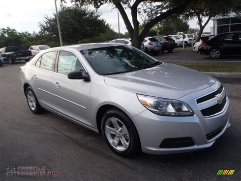 Silver And Black Ls by 2013 Chevrolet Malibu Ls In Silver Metallic 348838