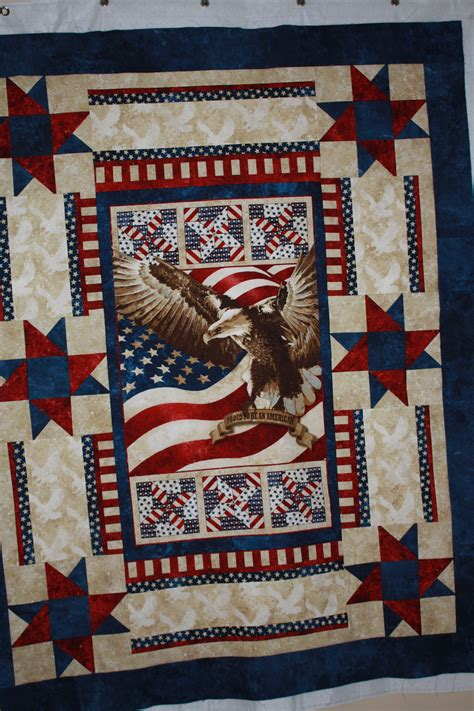 quilt pattern eagle patriotic quilt using eagle panel marys quilts