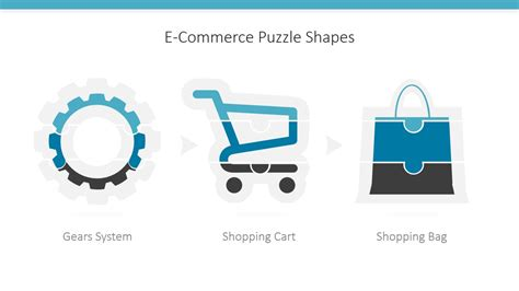 E Commerce Icons Puzzle Powerpoint Shapes Slidemodel E Commerce Powerpoint Template