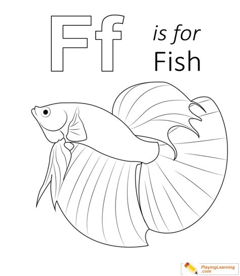 F Fish Coloring Page by F Is For Fish Coloring Page Free F Is For Fish Coloring Page