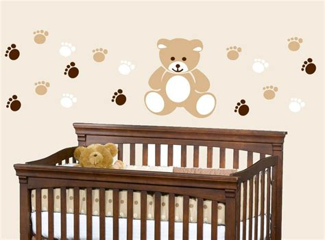 Wall Decal For Nursery Teddy Nursery Vinyl Wall Decal By Toodlesdecalstudio