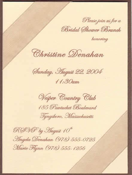 program to make bridal shower invitations rella bridal showers rehearsal dinners