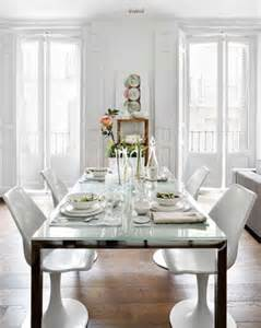 White Glass Dining Room Table Traditional Home B A S