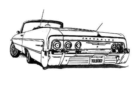 lowrider truck coloring page free 64 chevy truck coloring pages
