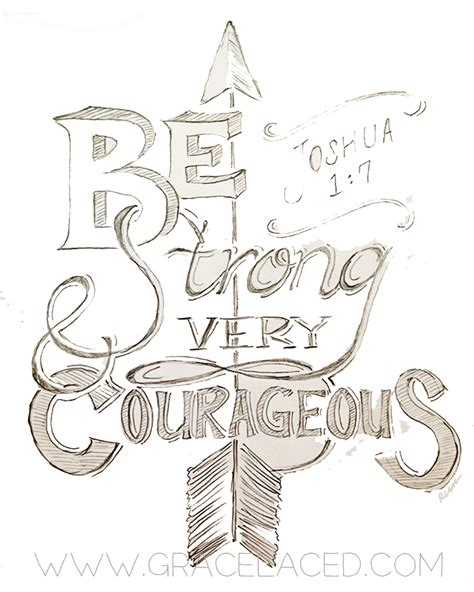 doodle strong be strong and courageous drawing day 4 be