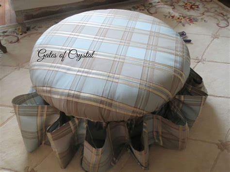 reupholster round ottoman gates of crystal reupholstering a round ottoman with