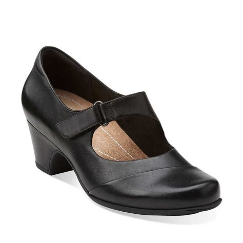 Comfortable Dress Heels by Clarks Sugar Palm Comfortable Low Heel