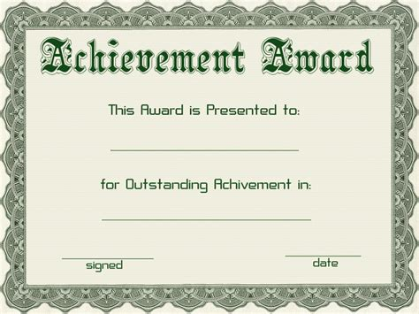 Free Templates For Awards by Certificate Templates Green Award Certificate Powerpoint