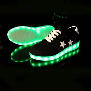 Light Up Shoes Adults Black Star Led Light Up Dress Shoes Casual Fashion For Men
