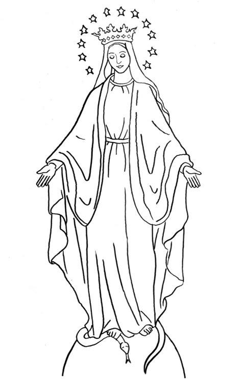 imagenes de la virgen faciles para dibujar diferentes dibujos de la virgen de la medalla milagrosa