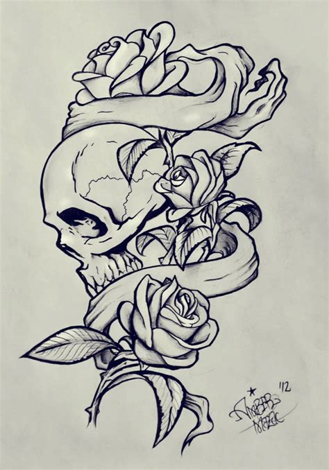 skull music tattoo designs banners and skull reference