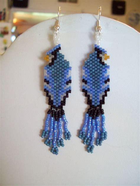 beadwork blue design beaded blue bird