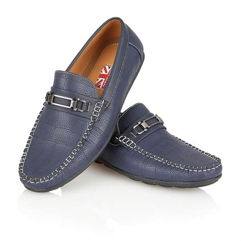 italian loafer shoes mens designer leather look italian loafers casual moccasin