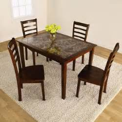 5pc faux marble dining set style at kmart