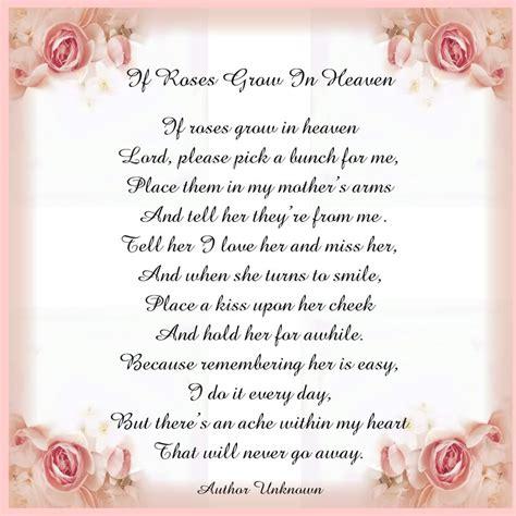 heaven poem in heaven poem view topic printable tile poem if roses grow in heaven