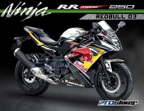 Decal Striping Kawasaki 250 Fi 1 modif striping kawasaki rr mono 250cc warna putih motif motogp team redbull 03 hitam