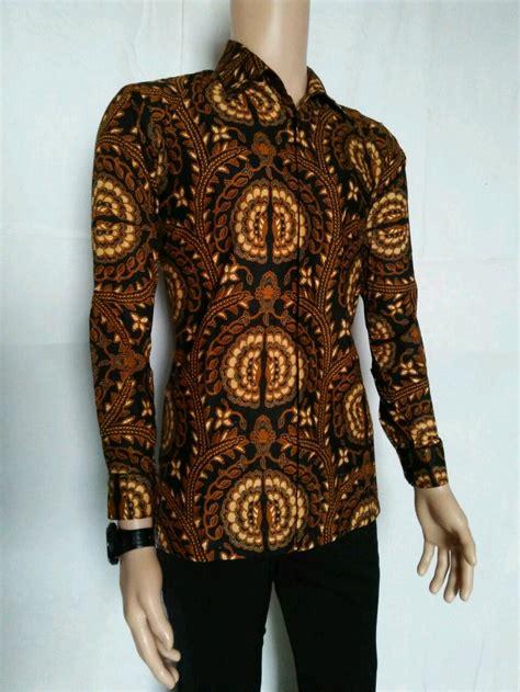 jual kemeja batik panjang baju batik baju pria  lapak