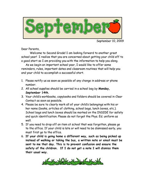 Parent Letter Beginning Of School Year Welcome Back Letter To Parents From Principal Clipartsgram