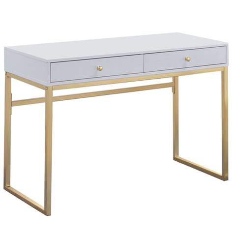 white and gold office desk white gold grace desk temple webster