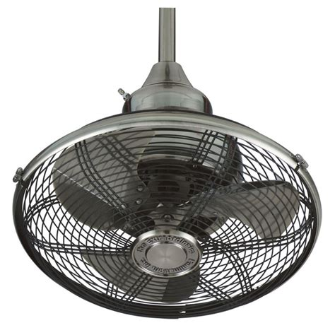 fanimation of110pw pewter 18 quot 3 blade oscillating ceiling