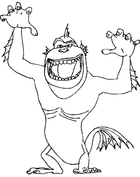 monster fish coloring pages coloring monster fish ape hybrid picture