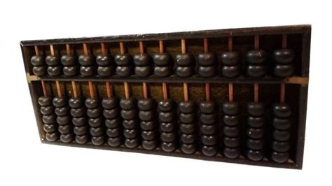 beaded calculators vtg japanese brass wood abacus 91 bead calculator
